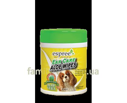 ESPREE Aloe Ear Care Pet Wipes Влажные салфетки для ушей 60шт