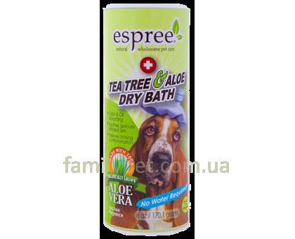ESPREE Tea Tree & Aloe Dry Bath Сухой шампунь с алое вера и маслом чайного дерева 177 мл