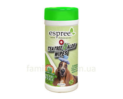 ESPREE Tea Tree&Aloe Wipes Салфетки с ароматом чайного дерева 50 шт