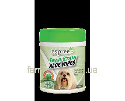 ESPREE Aloe Tear Stain Wipes Салфетки для для чистки вокруг глаз 60шт