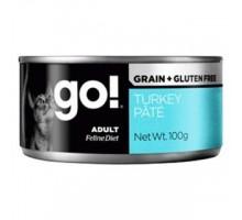 GO! Grain Free Turkey Pate Консерва с индейкой для взрослых кошек  100 г