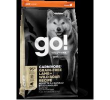 GO! Solutions Carnivore Беззерновой сухой корм с ягненком и диким кабаном для щенков и собак всех пород