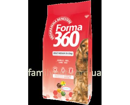 Forma 360 Dog Adult Medium Lamb Корм для средних пород с ягненком и рисом 12 кг