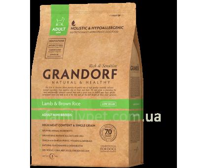 Grandorf Lamb & Rice Mini - ягненок с рисом для мини пород