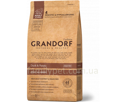 Grandorf Duck & Potato All Breeds - утка для взрослых собак