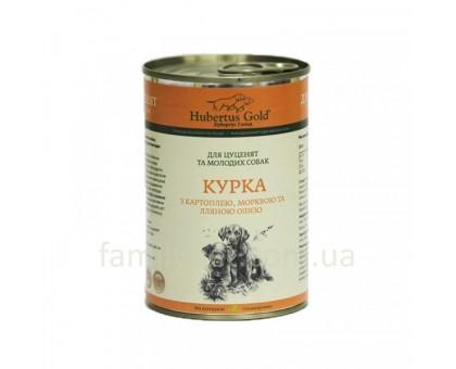 Hubertus Gold Курица с картофелем и морковь для щенков (400г)