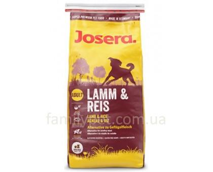 Josera Lamb&Rice Гипоалергенный корм для собак с ягненком и рисом