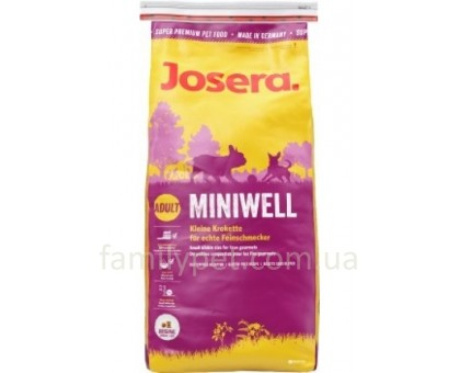 Josera Miniwell Корм для собак мини пород