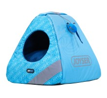 Joyser Chill Cat Home ДЖОЙСЕР домик для котов, игрушка мышка с кошачьей мятой голубой/синий 40х40х41 см