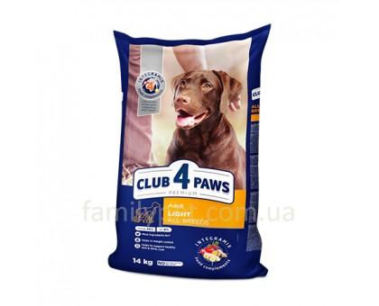CLUB 4 PAWS Premium Сухой корм для собак всех пород контроль веса 14 кг