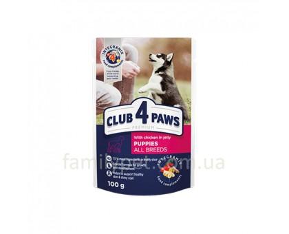 CLUB 4 PAWS Premium Консерва для щенков с курицей