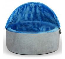 K&H Kitty Hooded Самосогревающийся домик-лежак для котов сине-серый