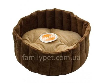 K&H Lazy Cup Лежак для собак и котов  желто-коричневый