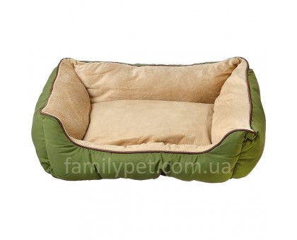 K&H Self-Warming Lounge Sleeper Самосогревающийся лежак для собак и котов зеленый/желто-коричневый