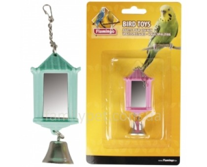 Flamingo LANTERN WITH BELL Игрушка для попугаев зеркало фонарик с колокольчиком