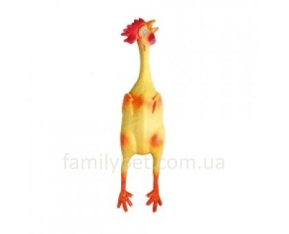 Flamingo  LATEX CHICKEN Игрушка для собак курица с пищалкой
