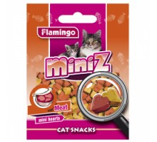 Flamingo MINIZ MINI HEARTS  Лакомство для кошек сердечко со вкусом мяса