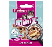 Flamingo MINIZ MINI MICE Лакомство для кошек в виде мышек со вкусом рыбы