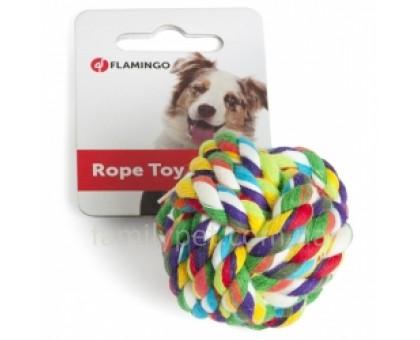Flamingo COTTON BALL Игрушка для собак мяч плетеный веревочный