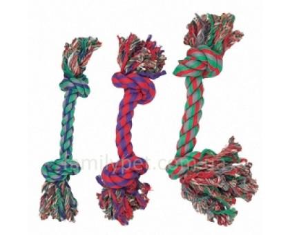 Flamingo COTTON KNOT MINI Игрушка для собак веревочная кость 2 узла 14 см