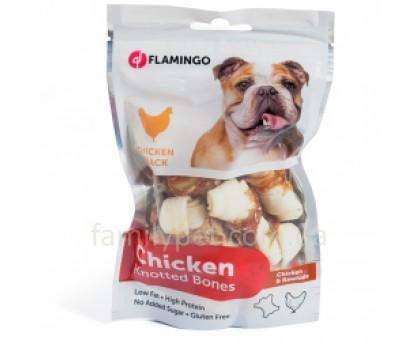 Flamingo Knotted Bones Лакомство для собак куриная кость с узлами 85 г