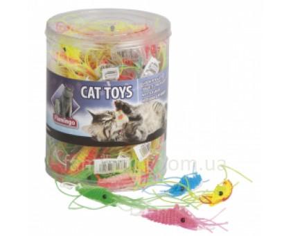 Flamingo PLASTIC SHRIMP Игрушка для кошек креветка латекс