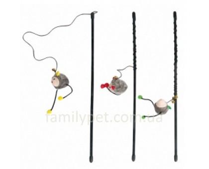 Flamingo ROD WITH MOUSE игрушка для кошек удочка с мышкой 47см
