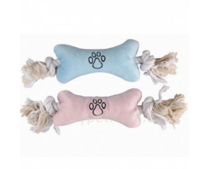 Flamingo PUPPY PLUSH BONE Мягкая игрушка для щенков в виде косточки с веревочными ручками