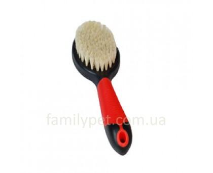 """Flamingo Brush Pig""""s Hair Щетка для собак и кошек из натуральной щетины с антистатическим эффектом 23 см"""