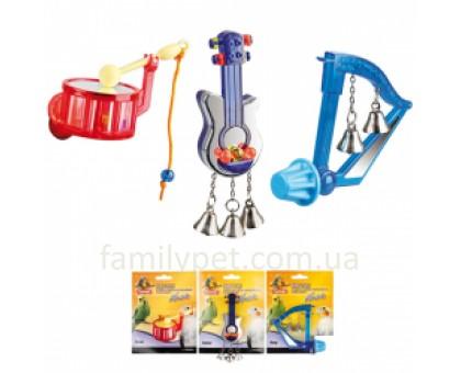 Flamingo Bird Toy Music Игрушка для птиц музыкальный инструмент с колокольчиками  8 см