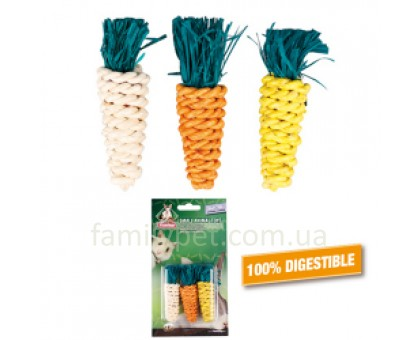 Flamingo Carrots Small Игрушка для грызунов в виде морковки для гигиены зубов