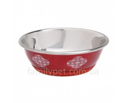 Flamingo Bowl Selecta Red Миска для собак и кошек пищевая нержавеющая сталь красная