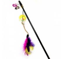 Flamingo Ball&Feathers Игрушка дразнилка для кошек удочка с мячом и перьями 50 см