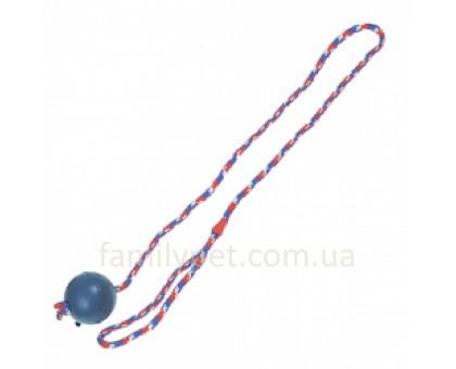 Flamingo Ball With Rope Игрушка для собак мяч из литой резины на веревке