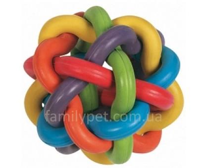 Flamingo Ball Colors Игрушка для собак плетеный разноцветный мяч 10 см