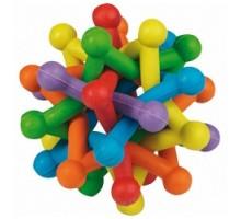 Flamingo Atom Colored Игрушка для собак разноцветный плетеный мяч-атом 10 см