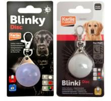 Flamingo Blinki Disc Светящийся брелок безопасности для собак водонепроницаемый