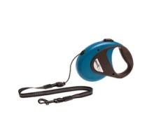 Flamingo DogxToGo Cord Поводок рулетка для собак до 12 кг светоотражающий шнур 8 м синяя