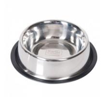 Flamingo Dish Rubber Rim Миска для собак с резиновым ободком нержавейка