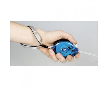 Flamingo DogxToGo Belt Glassy Поводок рулетка для собак до 12 кг с мягкой петлей на руку синяя