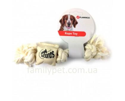 Flamingo Cotton Rope Squeaker Канат с пищалкой игрушка для собак