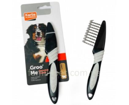 Flamingo Groo`Me Dematting Comb Колтунорез для собак длинношерстных пород закругленные зубцы