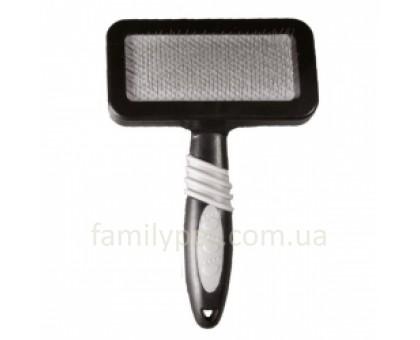 Flamingo GrooME Slicker Brush Пуходерка для собак скругленные зубцы из нержавеющей стали