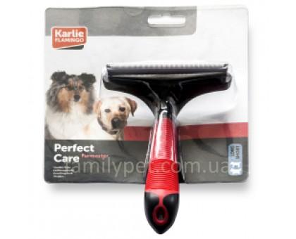 Flamingo Furmaster L Инструмент для вычесывания линяющей шерсти собак и кошек 100 мм