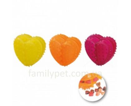 Flamingo Good4Fun Heart Refillable Игрушка для собак в виде сердечка для лакомств