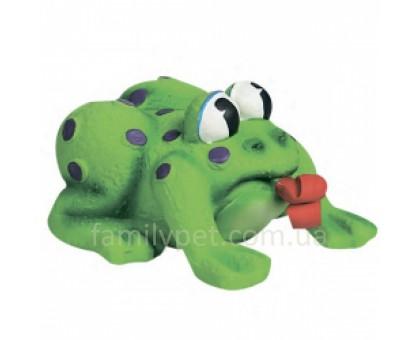 Flamingo Frog Pop-Up Tongue Игрушка для собак и щенков лягушка с языком