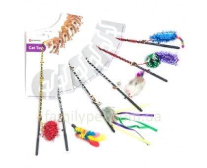 Flamingo Fishing-Rod Игрушка для кошек удочка дразнилка с игрушкой