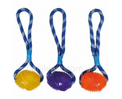 Flamingo Football Cotton RopeИгрушка для собак мяч на веревке с петлей