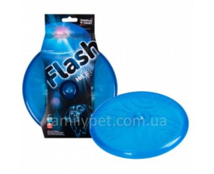 Flamingo Frisbee+LED Игрушка для собак с подсветкой 20 см