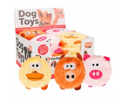 Flamingo Head Plush Мягкая игрушка для собак плюш  13 см